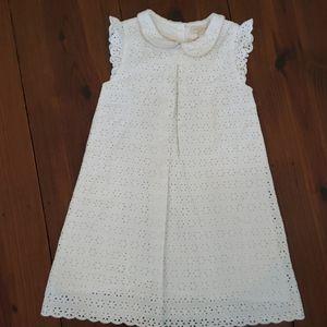 Mini Boden Sz 6-7yrs White Eyelet Dress